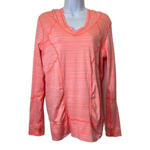Zella Coral Pullover w/ Hood and Thumb Holes